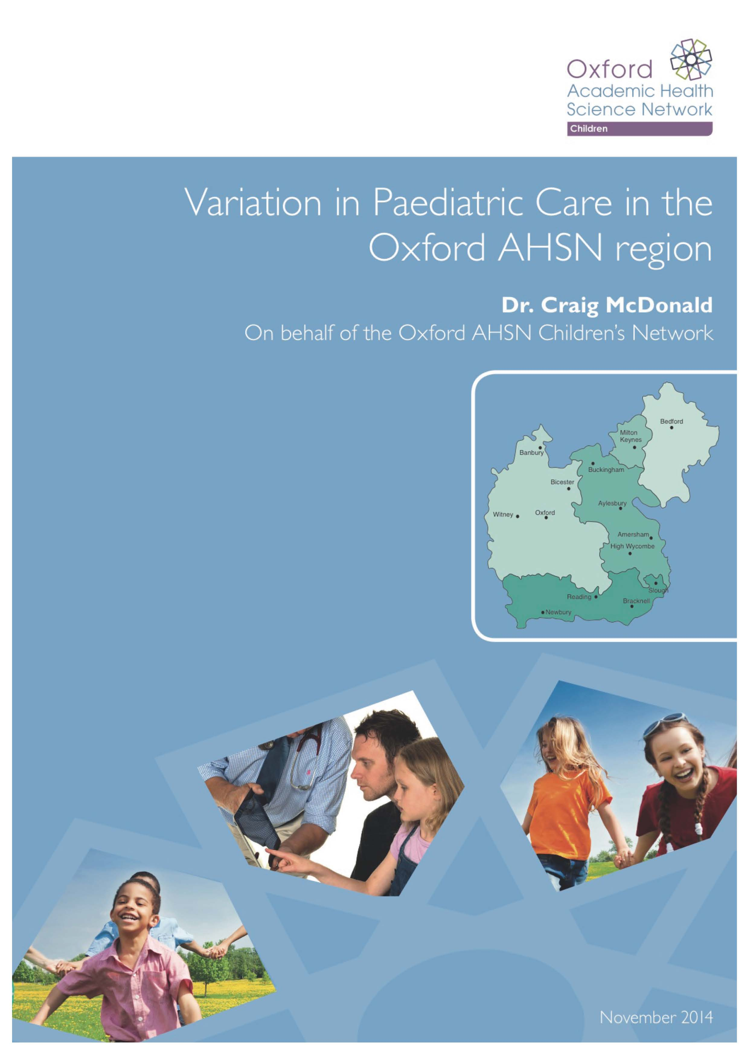 Variation in Paediatric care, Oxford AHSN, November 2014