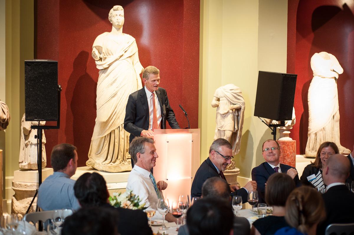 Prof Sir John Bell, Regius Professor of Medicine, University of Oxford, addresses the first Oxford AHSN Alumni Summit