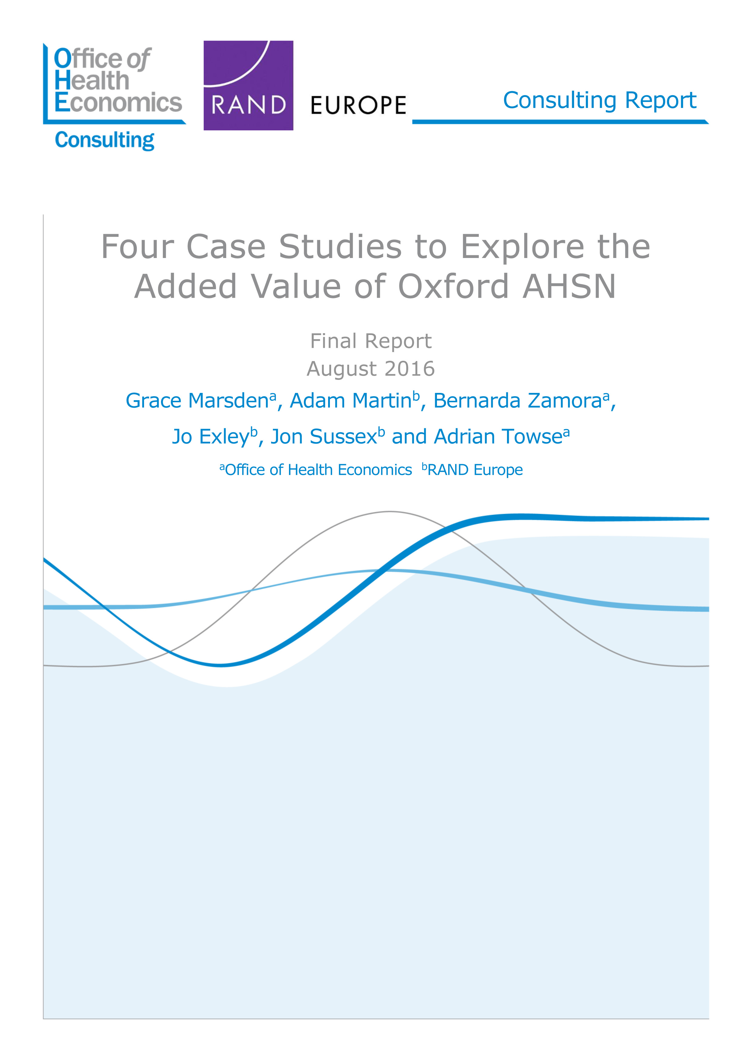 OHE report assessing added value of Oxford AHSN