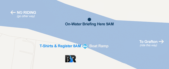 Meet for briefing on the water opposite the boat ramp at 9AM