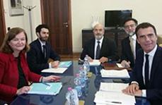 Visita della Ministra degli Affari Europei