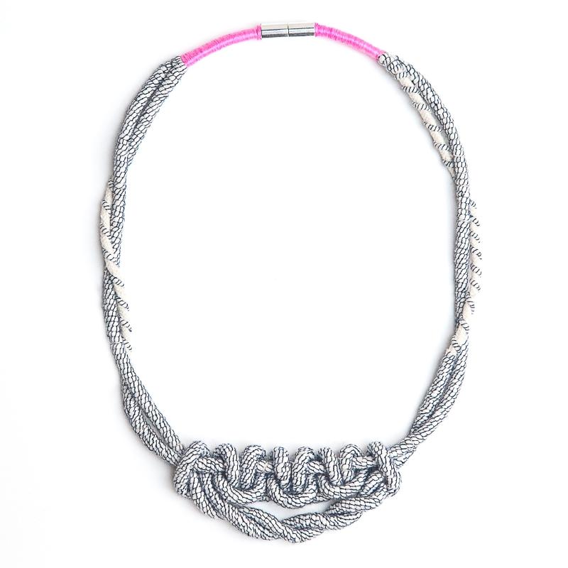 Yarn wrapped Macramé Knotted Choker