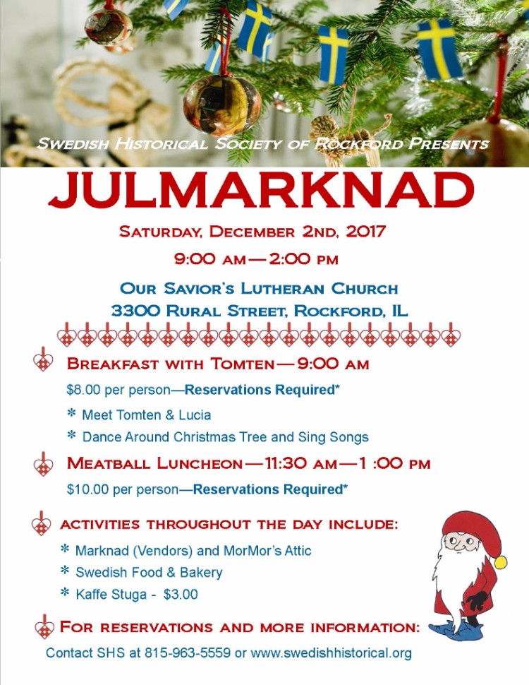 New Location - JULMARKNAD, December 2, 9:00 am to 2:00pm @ Our Savior's Lutheran Church | Rockford | Illinois | United States