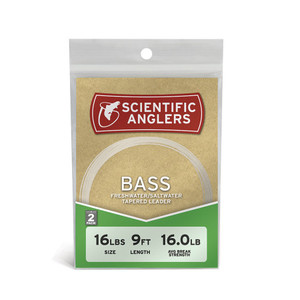 Scientific Anglers 9' Bass Freshwater Leader 2 Pack