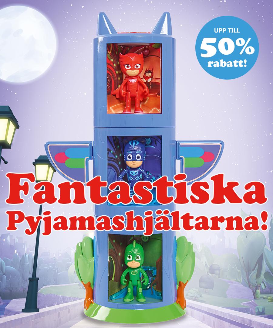 Fantastiska Pyjamashjältarna med upp till 50% rabatt!