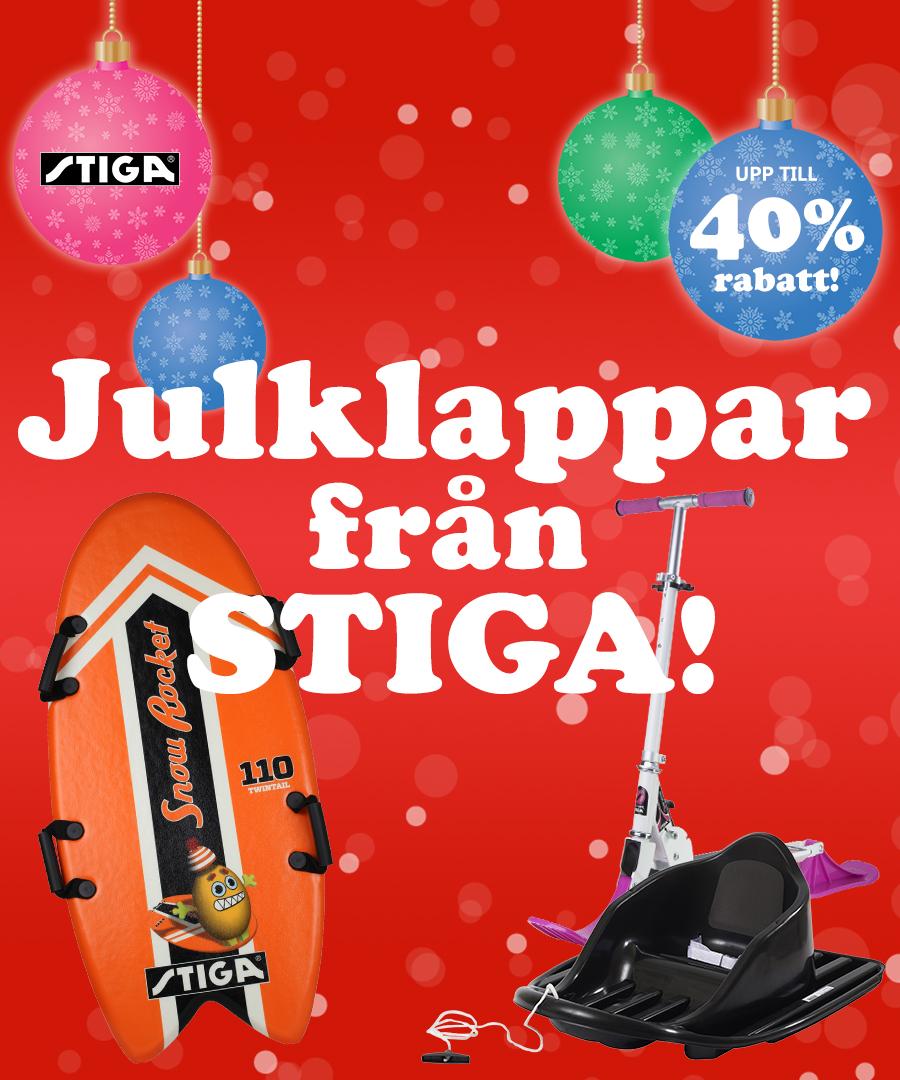 Julklappar från Stiga med upp till 40% rabatt!