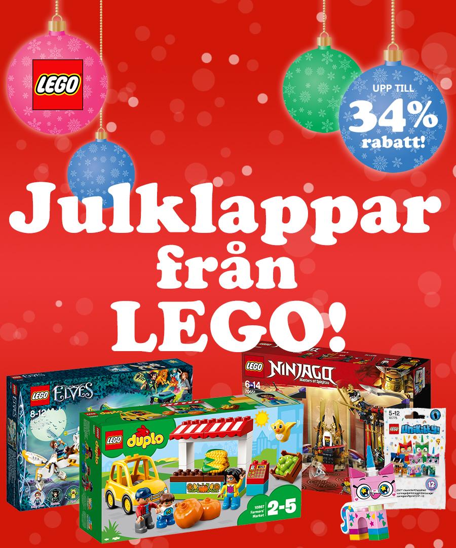 Julklappar från Lego med upp till 34% rabatt!