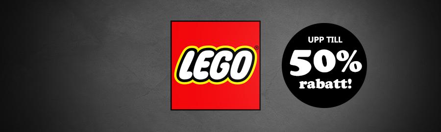 LEGO med upp till 50% rabatt!