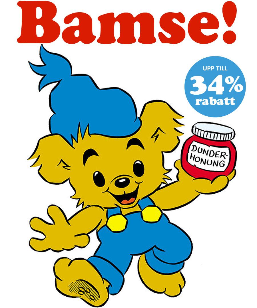 Bamse - upp till 34% rabatt!