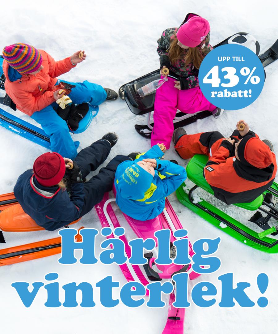 Härlig vinterlek med upp till 43% rabatt!