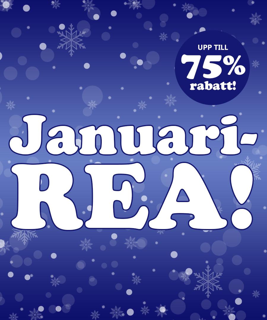 Januarirea med upp till 75% rabatt!