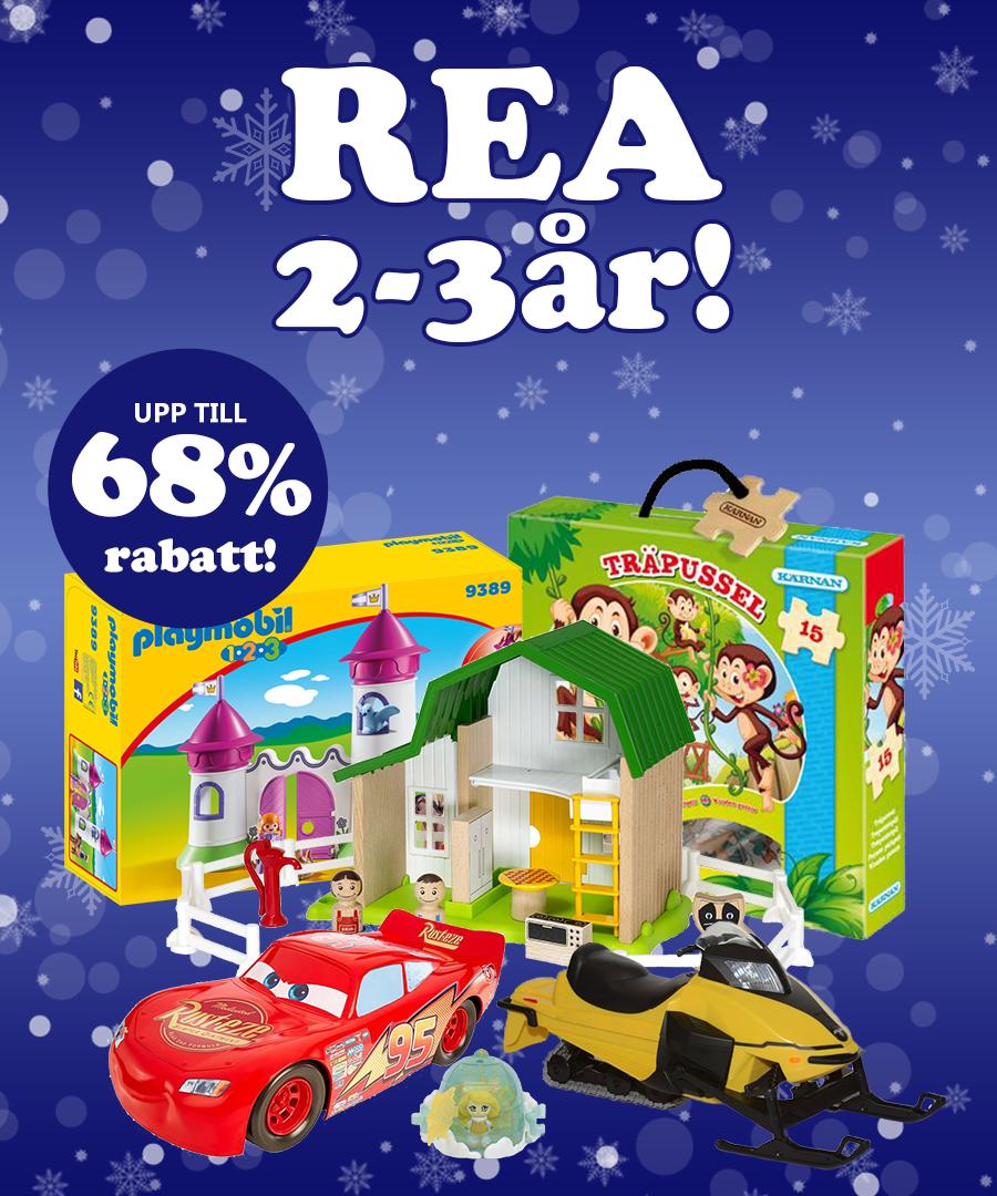 Rea 2-3Ã¥r med upp till 68% rabatt!