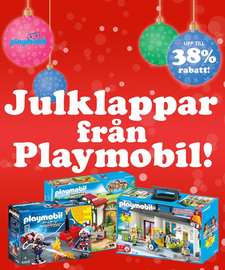 Julkappar från Playmobil med upp till 38% rabatt!