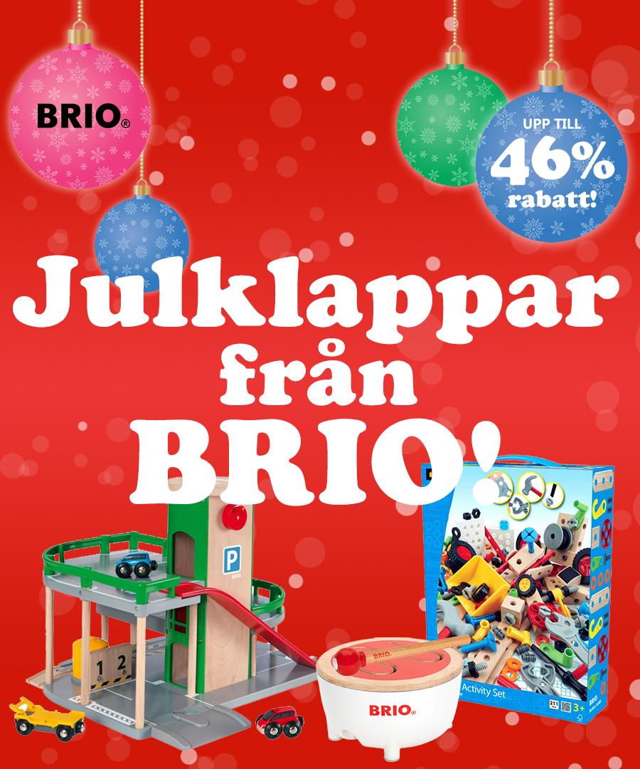 Julklappar från Brio med upp till 46% rabatt