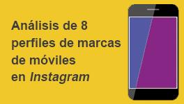 Análisis de marcas de móviles en Instagram