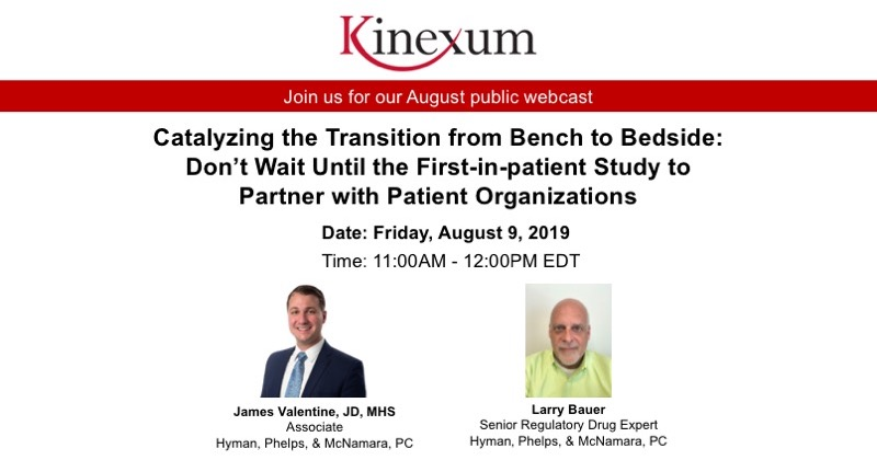 August Webinar featuring James Valentine, JD, MHS, and Larry Bauer