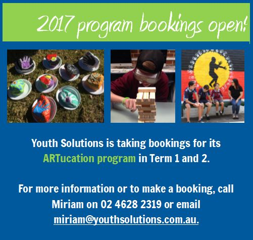 Youth Solutions' ARTucation program bookings now open