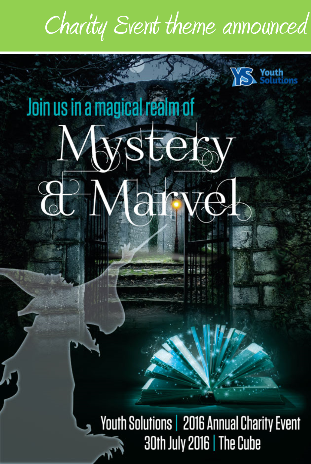 Youth Solutions Charity Event Theme Announced - Mystery and Marvel!