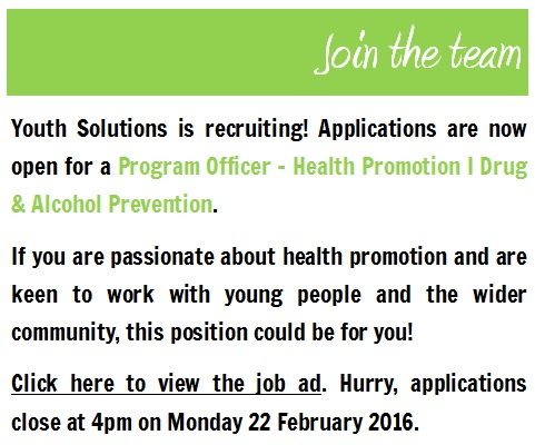 Join the team! Youth Solutions is recruiting.