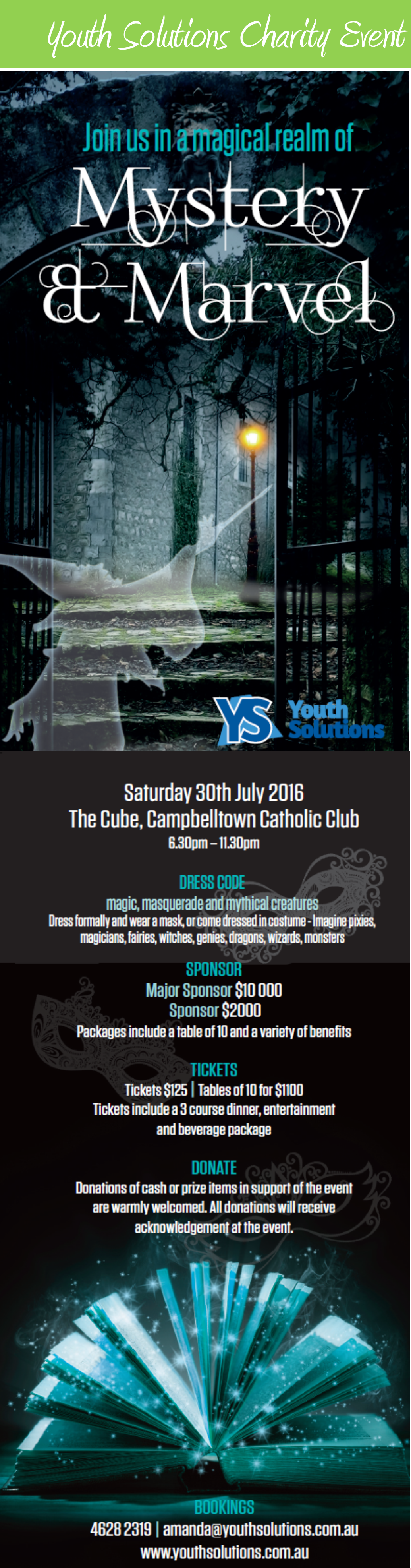 Join us in a magical realm of Mystery and Marvel for the YS Charity Event!