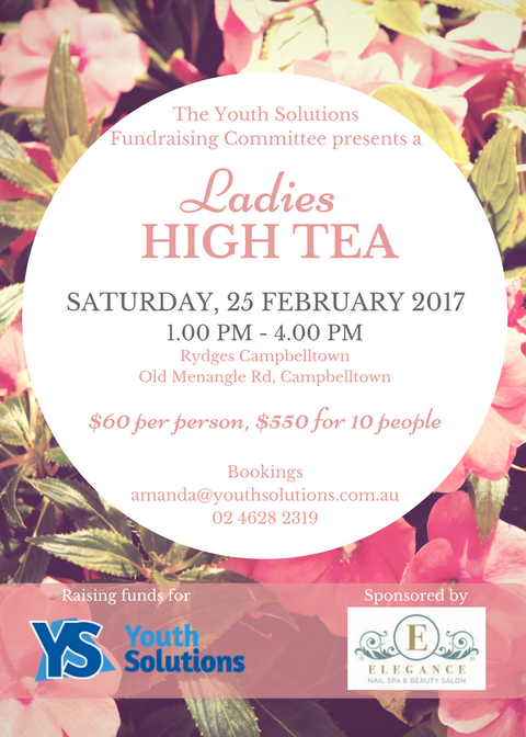 Youth Solutions Ladies High Tea - February 2017