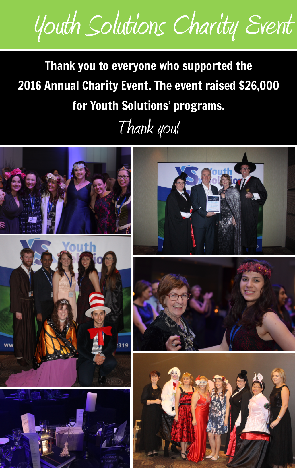 Youth Solutions 2016 Charity Event