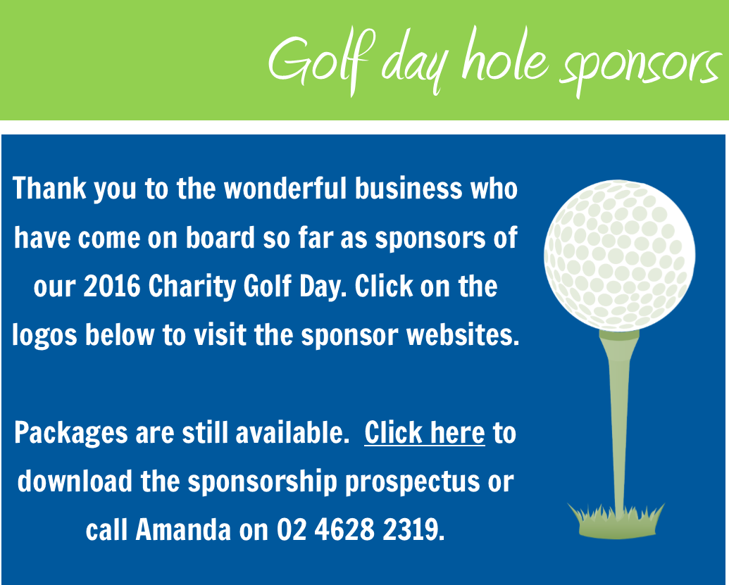 Click here to download the Golf Day Sponsorship Prospectus.