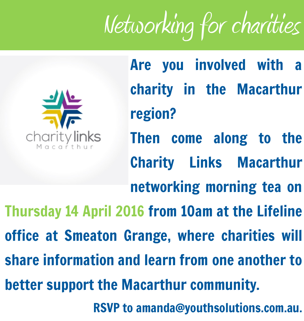 Charity Links Macarthur hosts networking morning tea for Macarthur NFPs