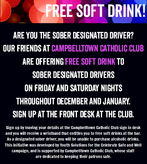 Celebrate Safe and Well Campaign: Free soft drink