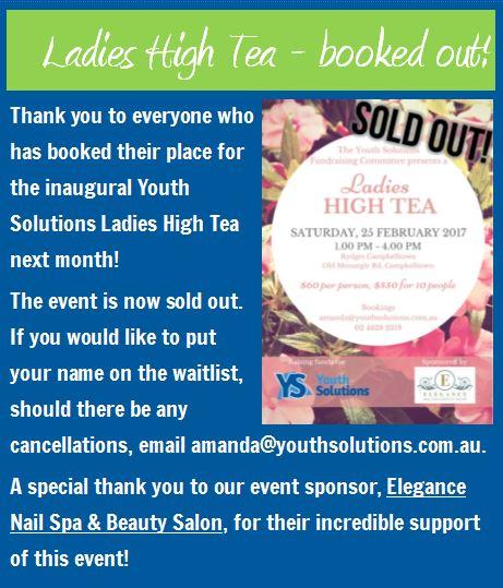 High Tea Sponsor: Elegance Nail Spa & Beauty Salon