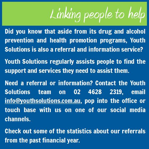 YS provides referral information