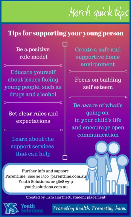 March quick tips: Tips for supporting your young person