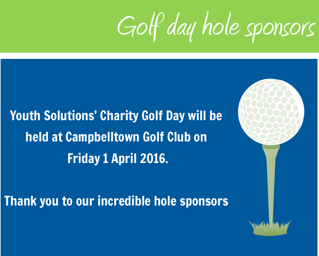 Thank you to our Golf Day sponsors