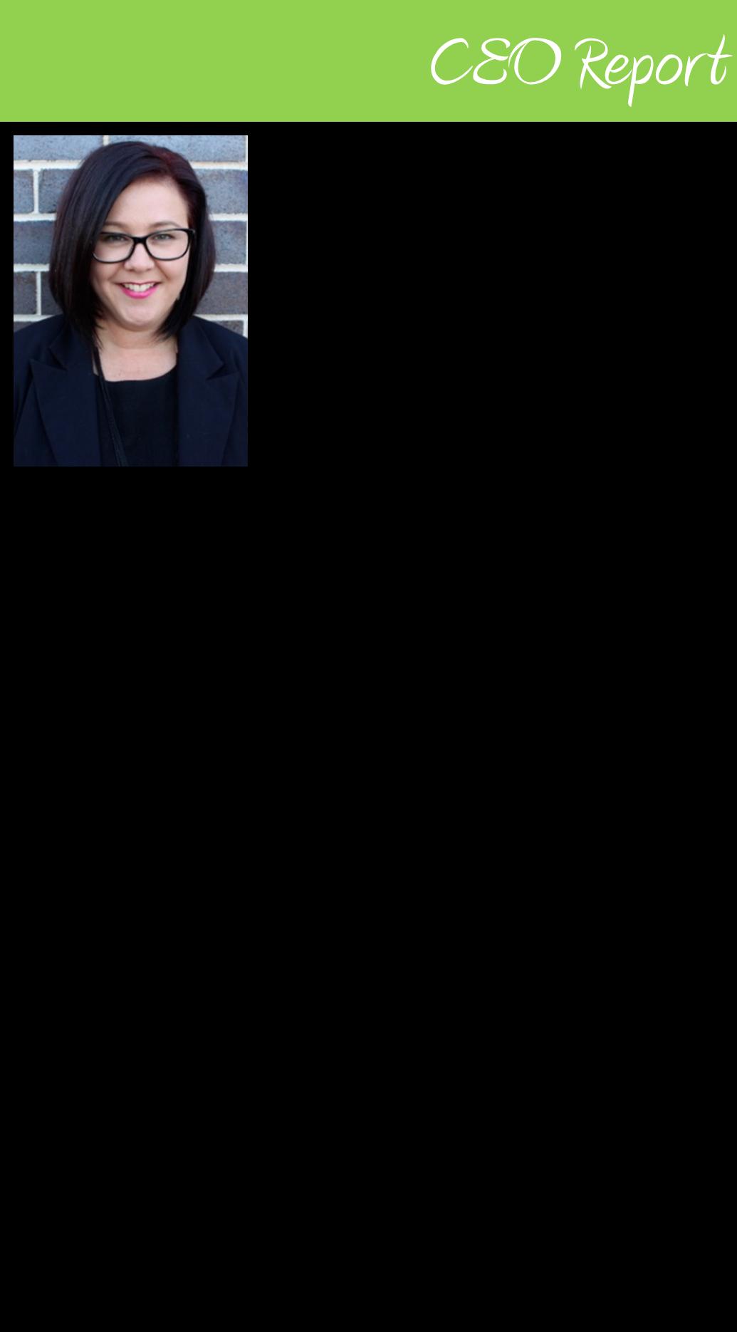 CEO Report: Geraldine Dean