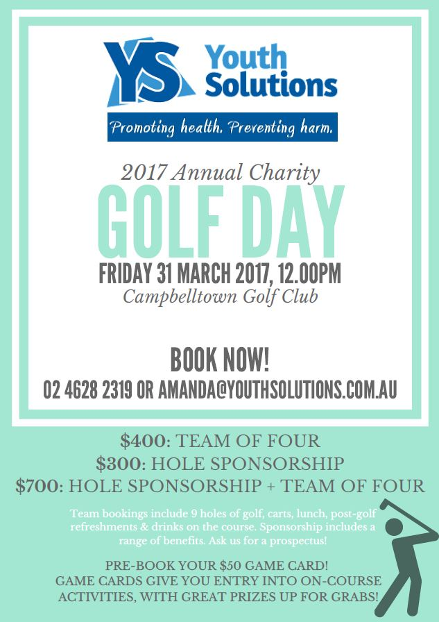 Youth Solutions 2017 Golf Day - 31 March