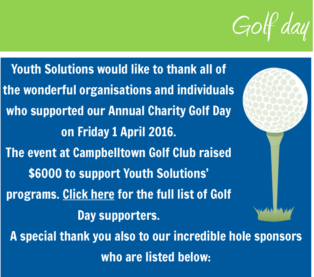 Youth Solutions Golf Day raises $6000