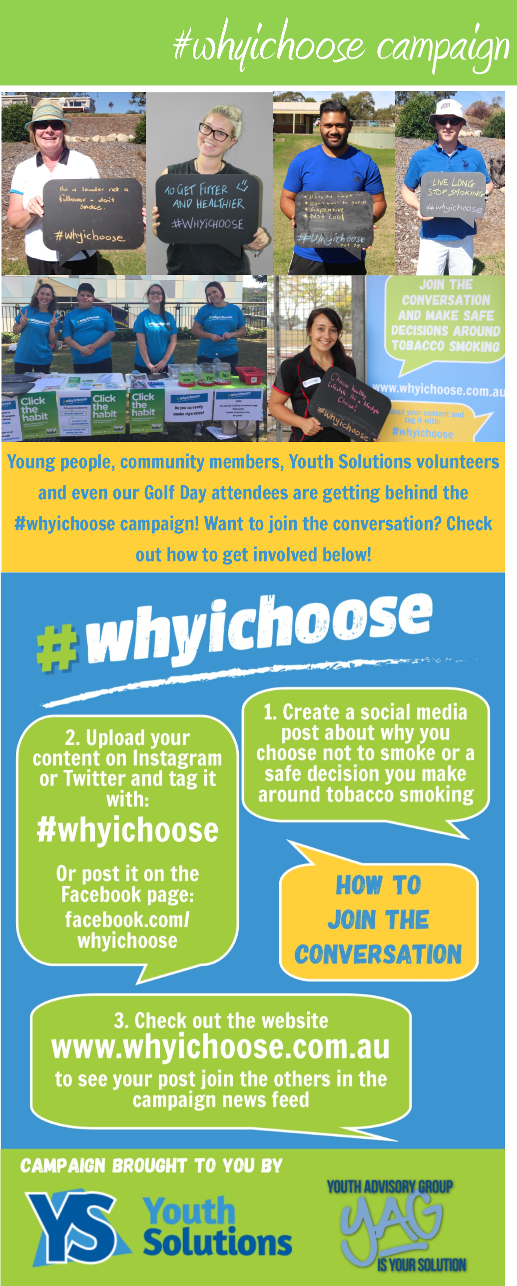 #whyichoose campaign - get involved now!