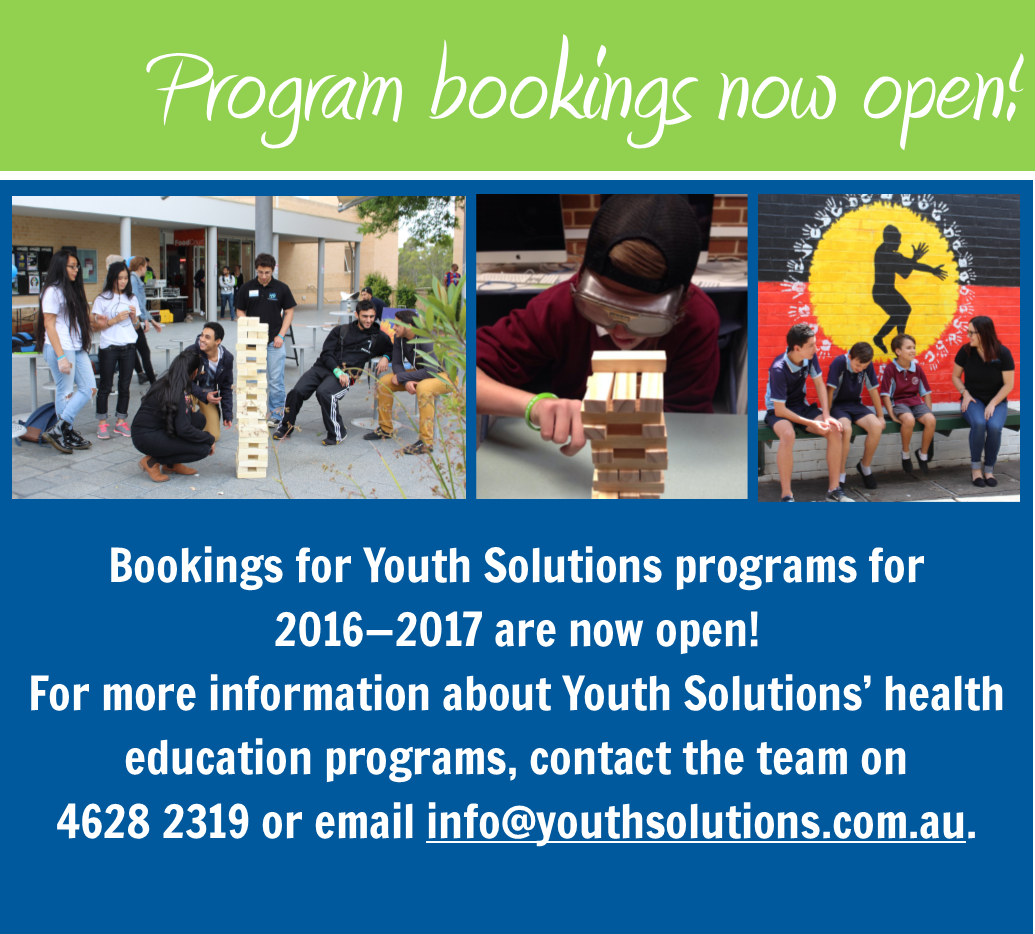 Youth Solutions program bookings now open