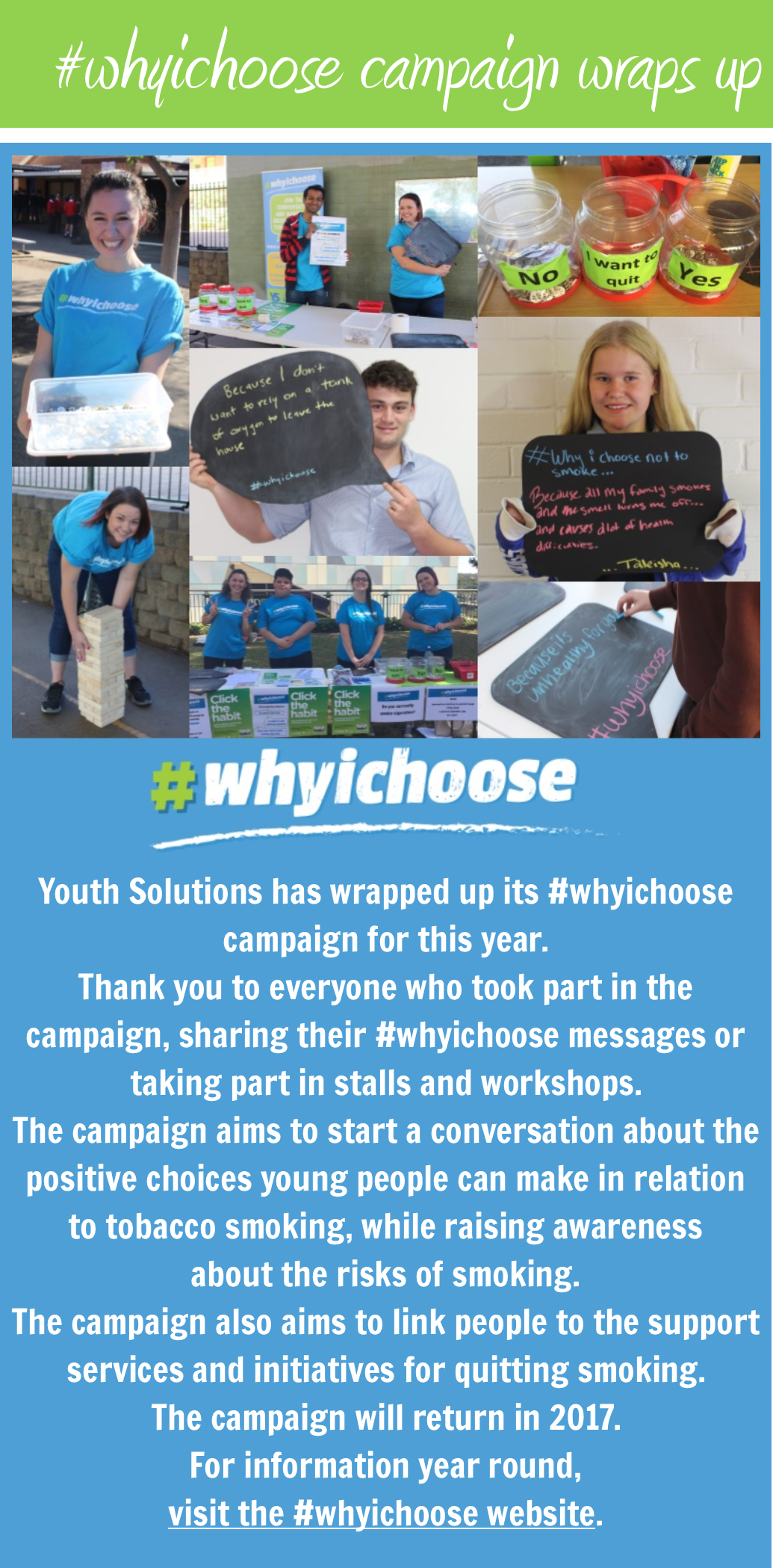#whyichoose campaign wraps up for 2016