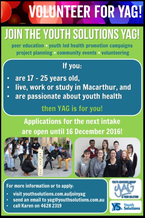Volunteer for YAG!