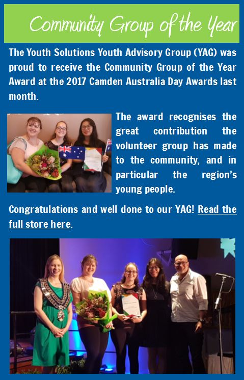 YAG win Community Group of the Year!