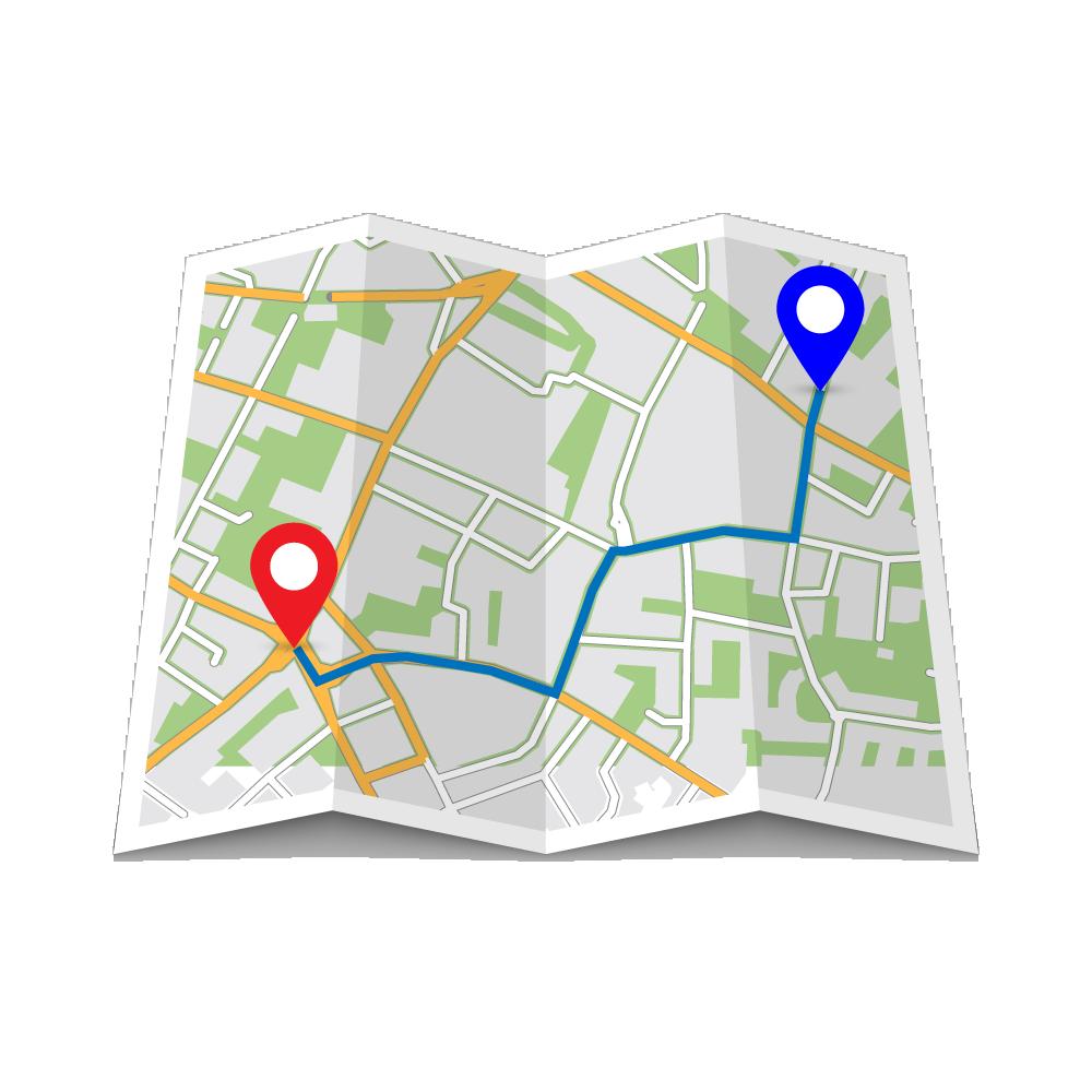 map icon - icono de un mapa