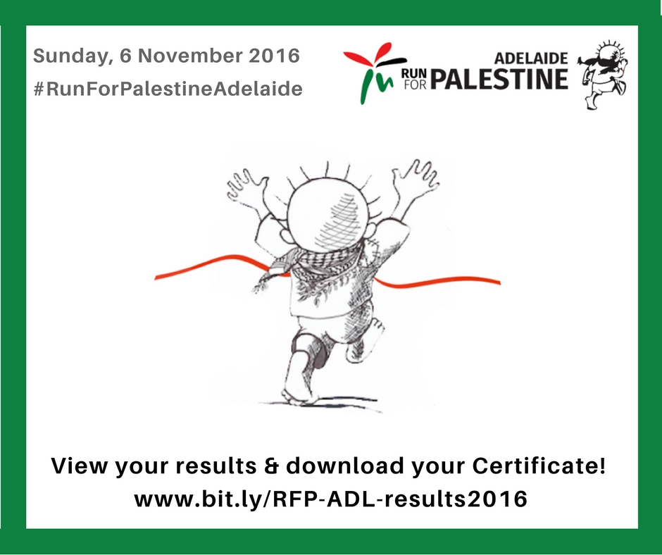 #RunForPalestineAdelaide - click here for your results