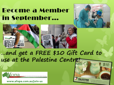 www.afopa.com.au/join-us - Become a member in September and get a free Gift Card