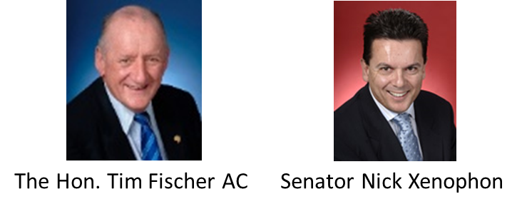 Guests: The Hon. Tim Fischer AC & Senator Nick Xenophon www.trybooking.com/223390