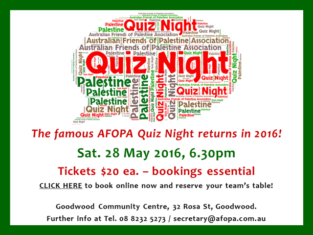 Quiz Night, 28 May 2016 - book your tickets now