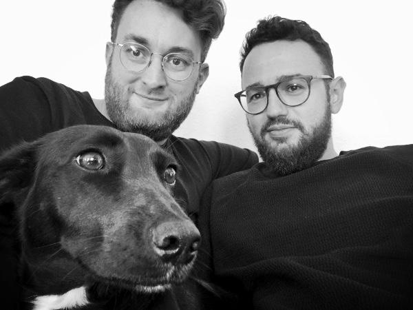 2 dudes, 1 dog