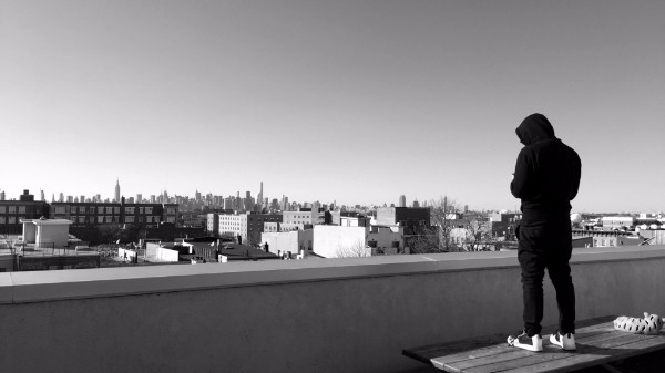 Igor on top of our apartment in Bushwick