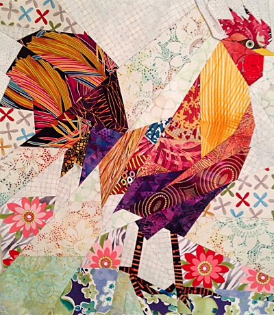 Rooster Paper Piecing