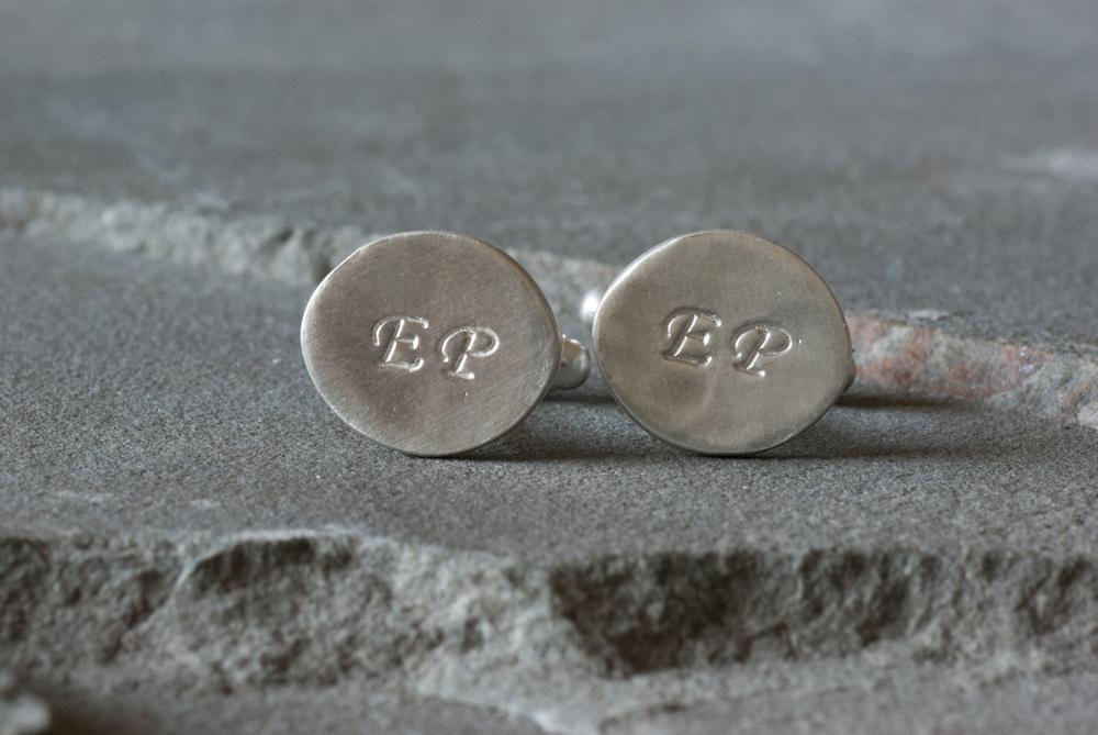 Monogrammed Oval Cufflinks
